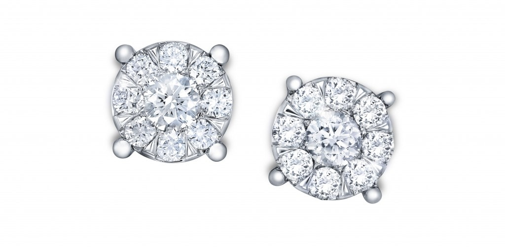 New and Exclusive Diamond Collection - 9ct white gold 0.50cttw multi stone studs
