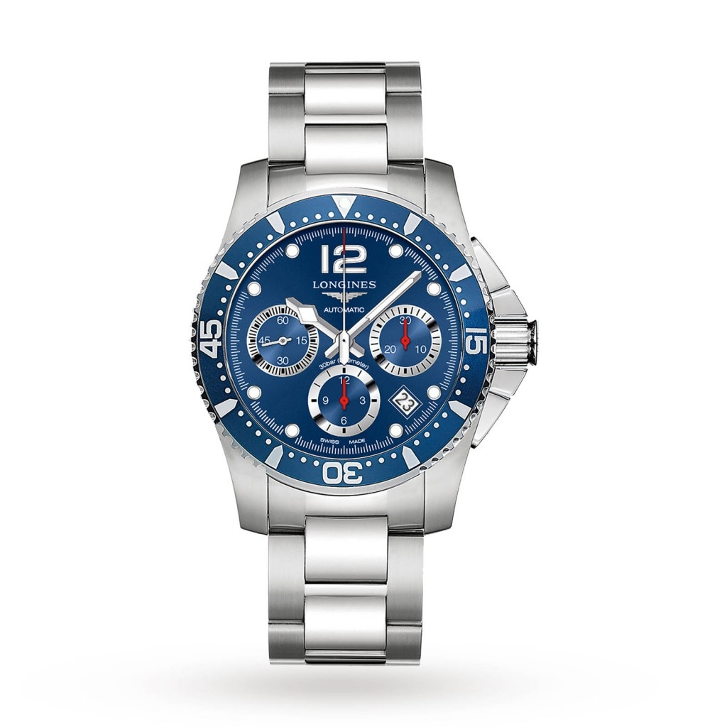 Longines HydroConquest men's watch with Blue dial and stainless steel case