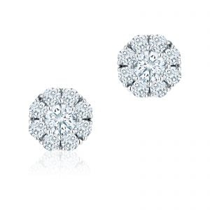 Birks at Goldsmiths this Mother's Day | Snowflake 0.92ct Diamond Cluster Stud Earrings