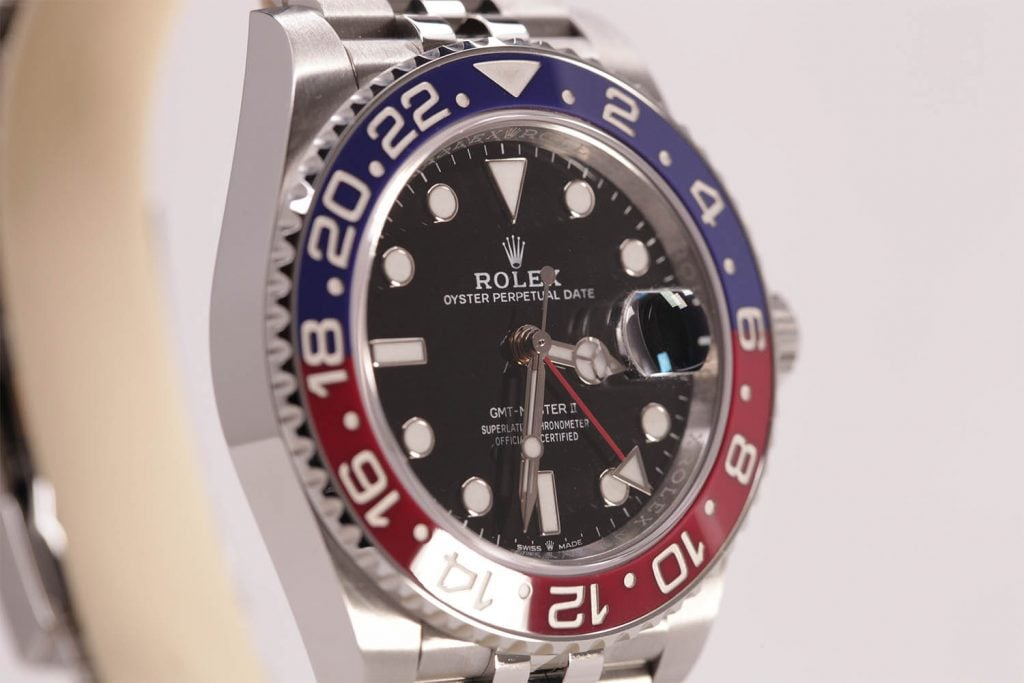 The Rolex GMT-Master II in Oystersteel, 40 mm case | Goldsmiths at Baselworld 2018
